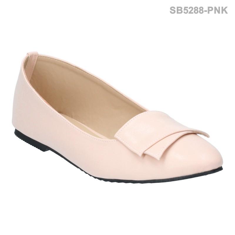 ลดล้างสต๊อก รองเท้าส้นแบน SB5288-PNK [สีชมพู]