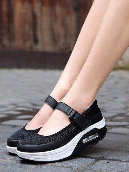 รองเท้าคัชชูสุขภาพ สไตล์สปอร์ต (สีดำ )