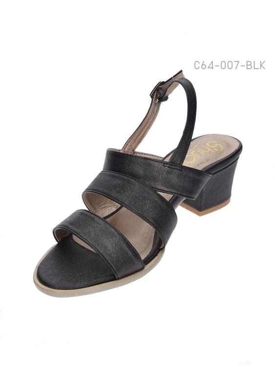 รองเท้าส้นสูงรัดข้อ (สีดำ)