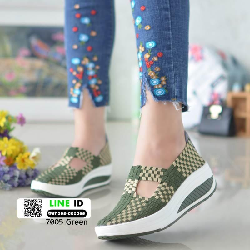 ผ้าใบไร้เชือกสปอร์ตเกิร์ล F7005-เขียว [สีเขียว]
