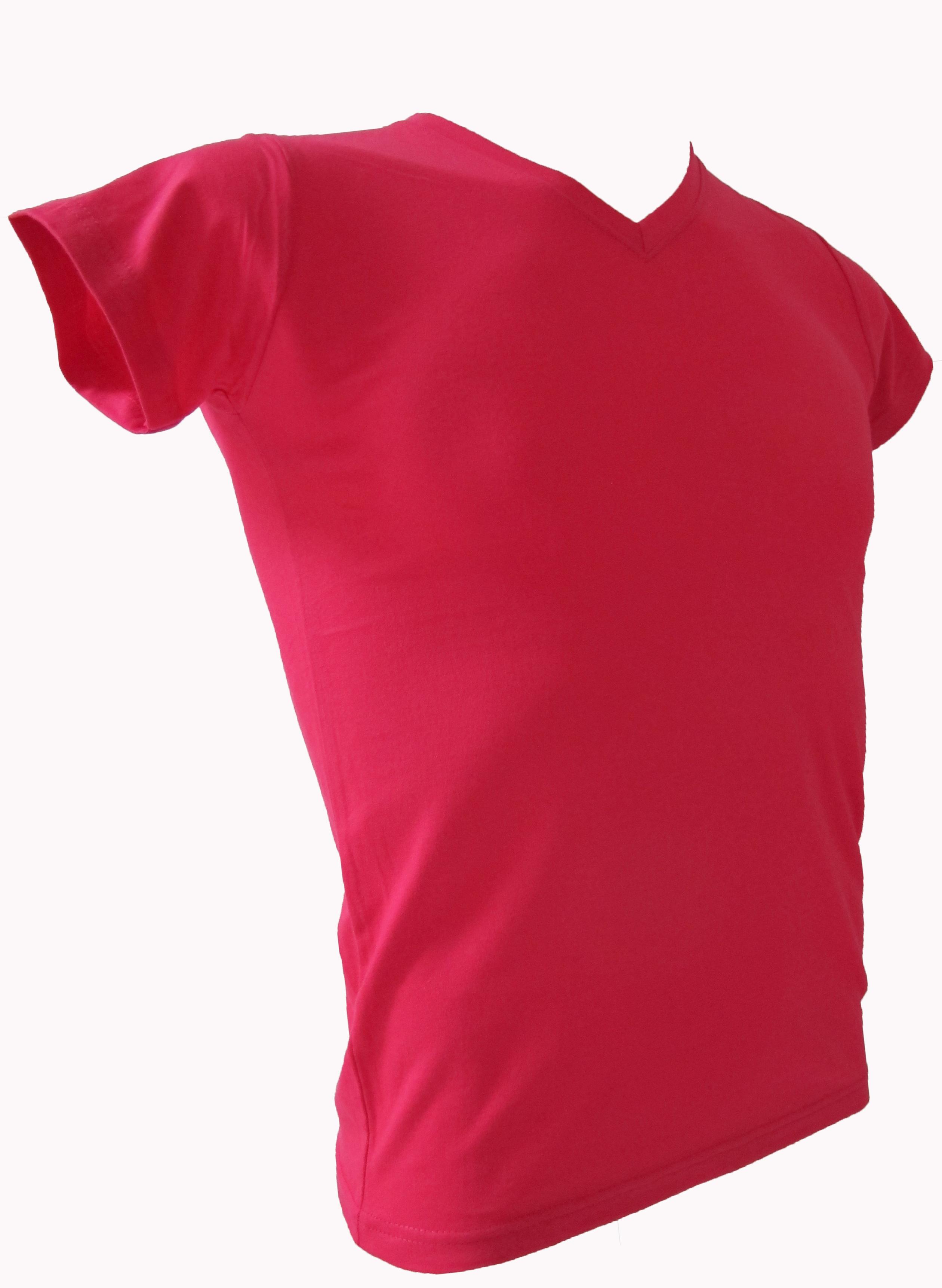 COTTON100% เบอร์32 เสื้อยืดแขนสั้น คอวี สีบานเย็น