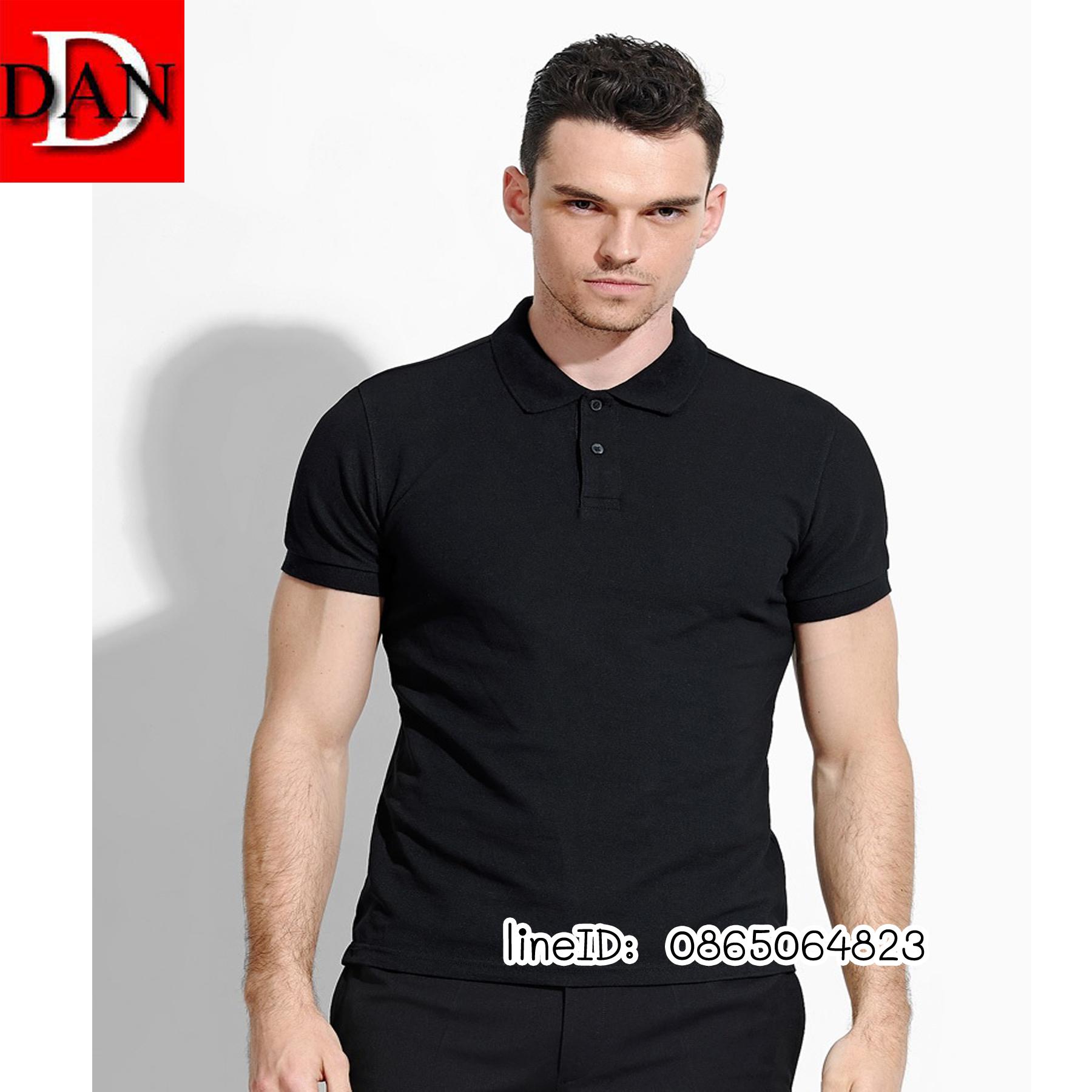เสื้อโปโลจูติ TC สีดำ