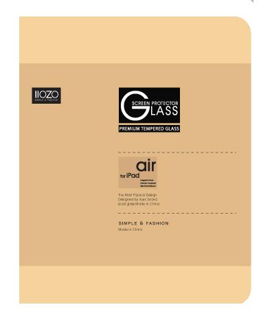 IIOZO ฟิล์มกระจกกันรอยนิรภัย สำหรับ iPad Air/2 2.5 C 0.44mm