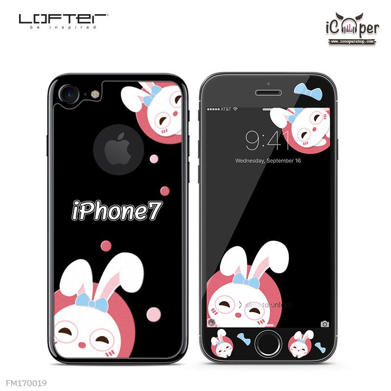 LOFTER Black Pets Full Cover - Rabbit (iPhone7)