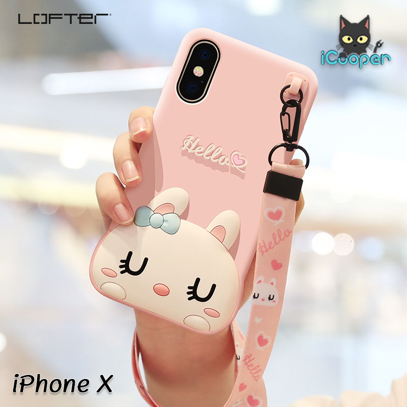 LOFTER Hello Rabbit Silicone - Pink (iPhoneX)
