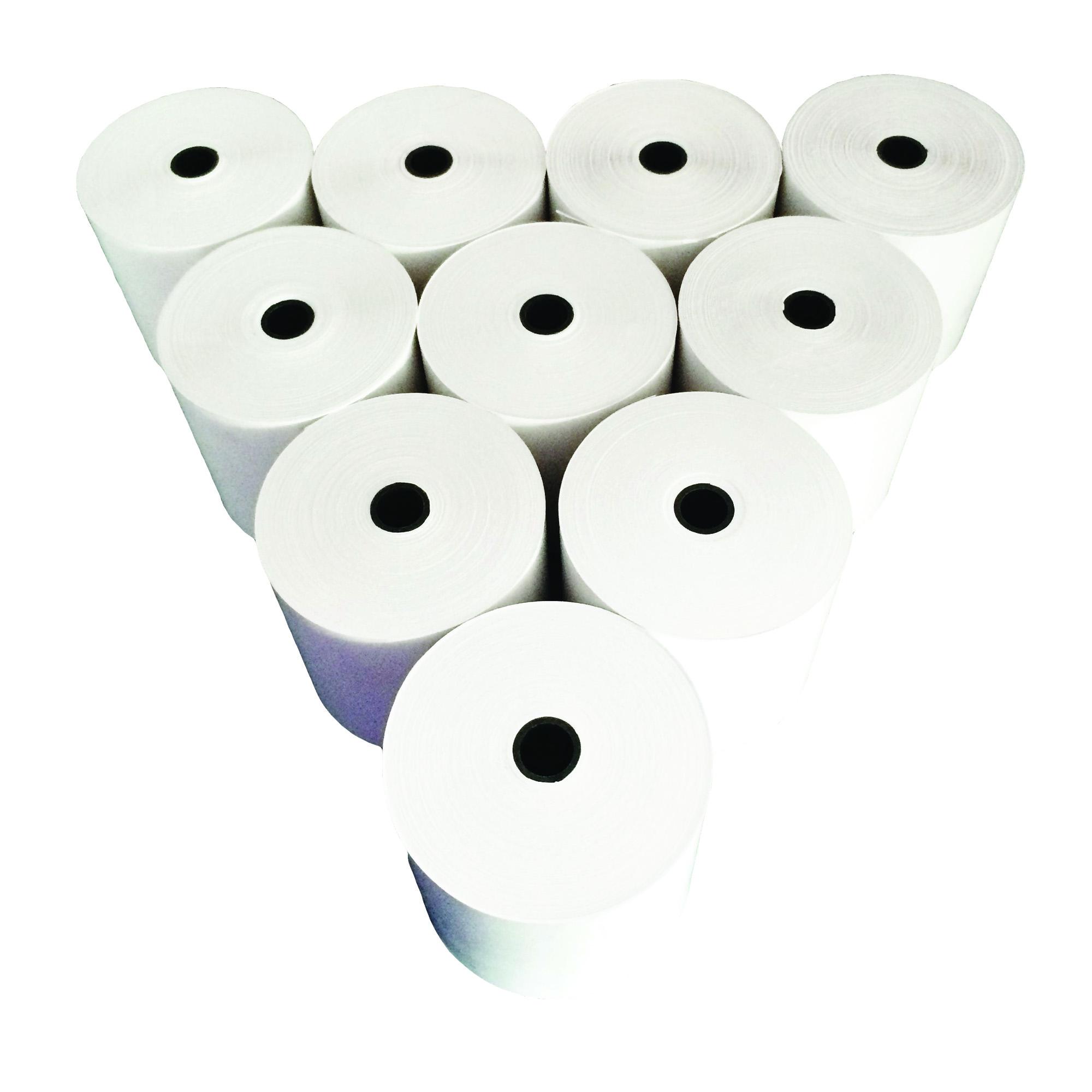 กระดาษพิมพ์ใบเสร็จ (Thermal Paper 80x80 mm) 10 ม้วน