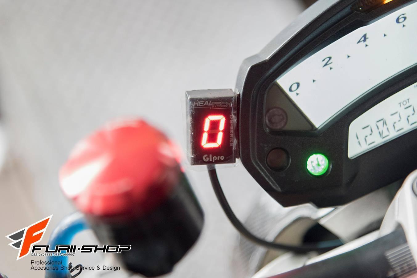 ไฟบอกเกียร์ Healtech สำหรับ Honda Kawasaki Ducati