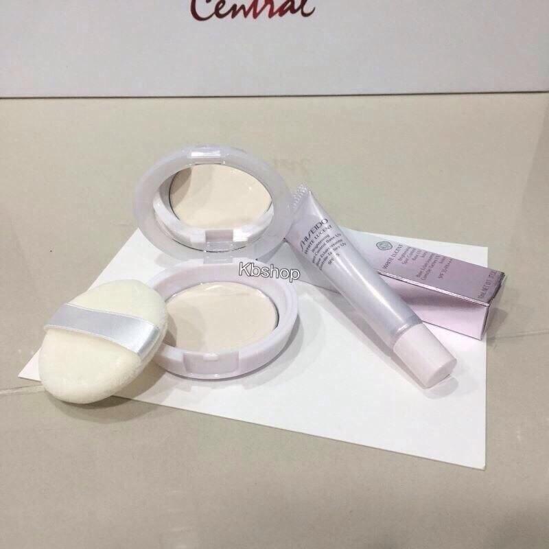 #Shiseido แป้ง + base ขนาดทดลอง