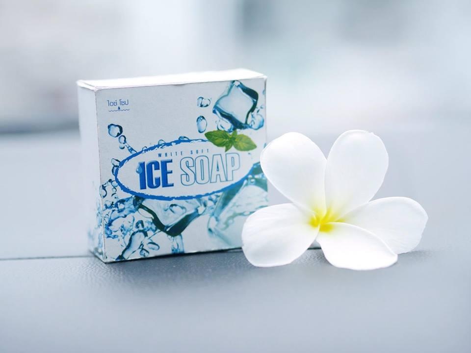 White Soft Ice Soap สบู่น้ำแข็ง