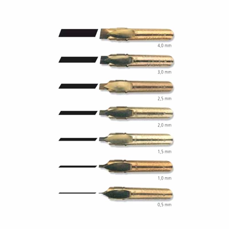 หัวปากกา Brause Bandzug Calligraphy Nib (6 ขนาด ราคาพิเศษ)