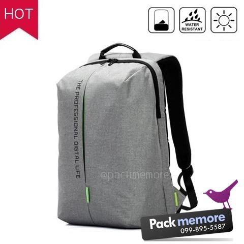 """กระเป๋าเป้โน๊คบุ๊ค Backpack รุ่น Simple กันน้ำ สำหรับหน้าจอ 13-15.6"""" หรือ macbook"""