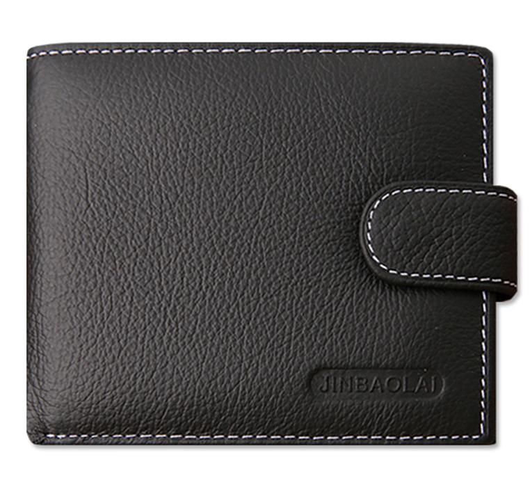 กระเป๋าสตางค์บุรุษ หนังแท้ JINBAOLAI สีดำ
