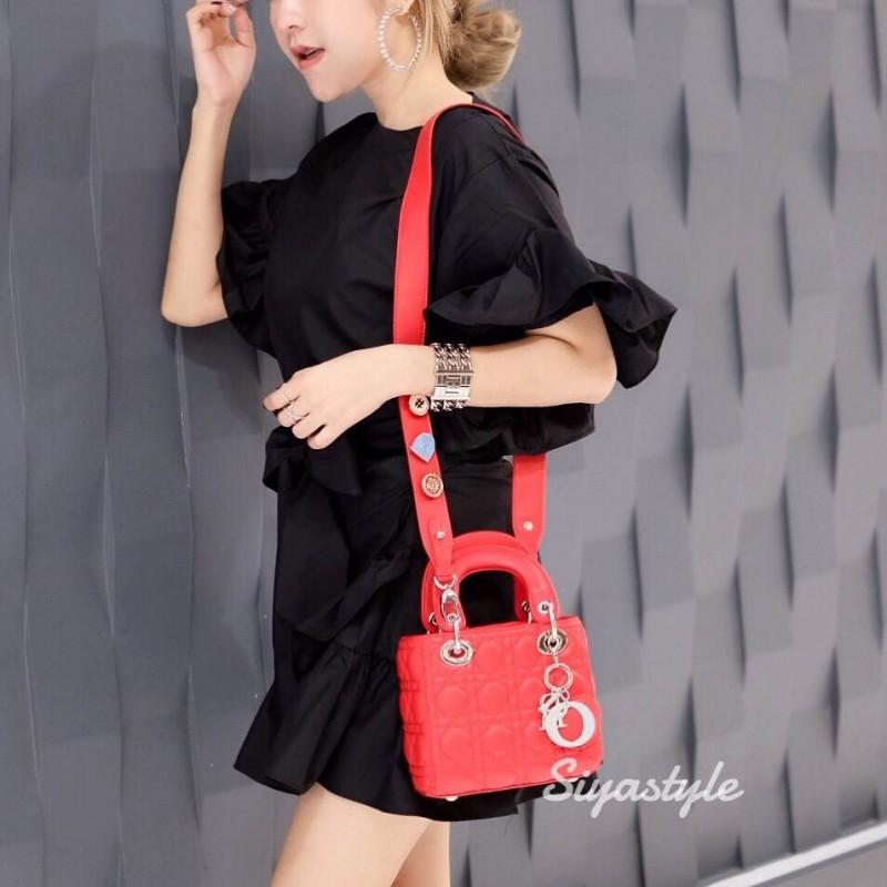 กระเป๋าสะพายแฟชั่น กระเป๋าสะพายข้างผู้หญิง Mini Lady Bag [สีแดง]