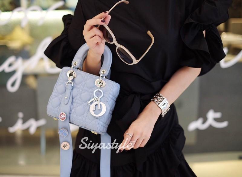 กระเป๋าสะพายแฟชั่น กระเป๋าสะพายข้างผู้หญิง Mini Lady Bag [สีดำ]