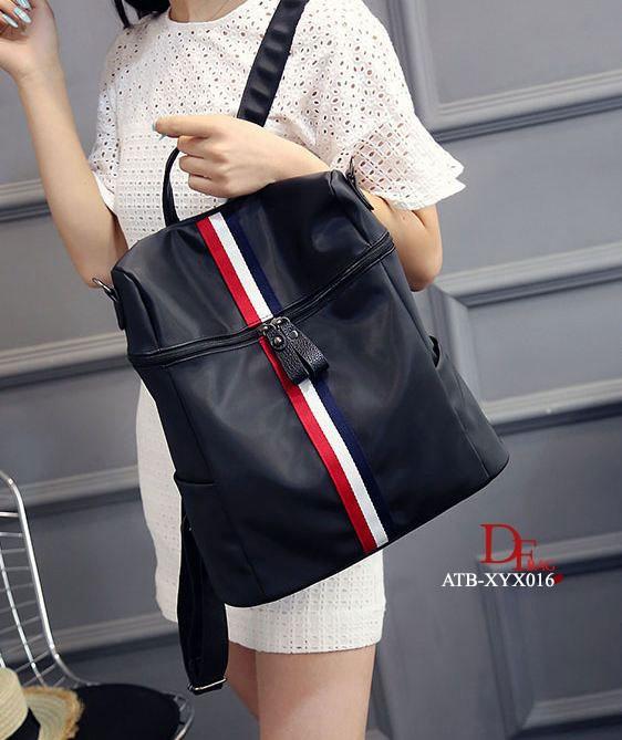 กระเป๋าเป้ผู้หญิง กระเป๋าสะพายข้างแฟชั่น ระดับแถบ 3tone style GUCCI [สีดำ ]