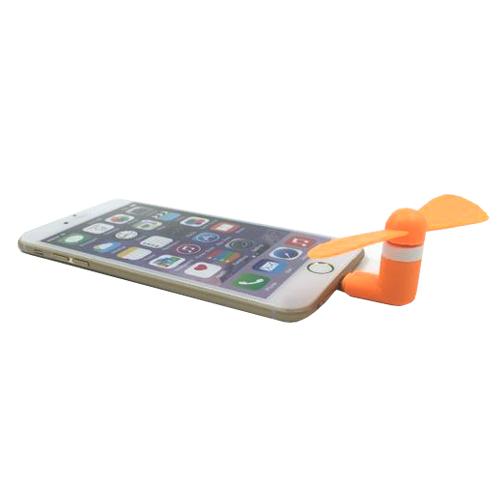 พัดลมพกพาสำหรับ iPhone5/5s/6/6plus (สีส้ม)