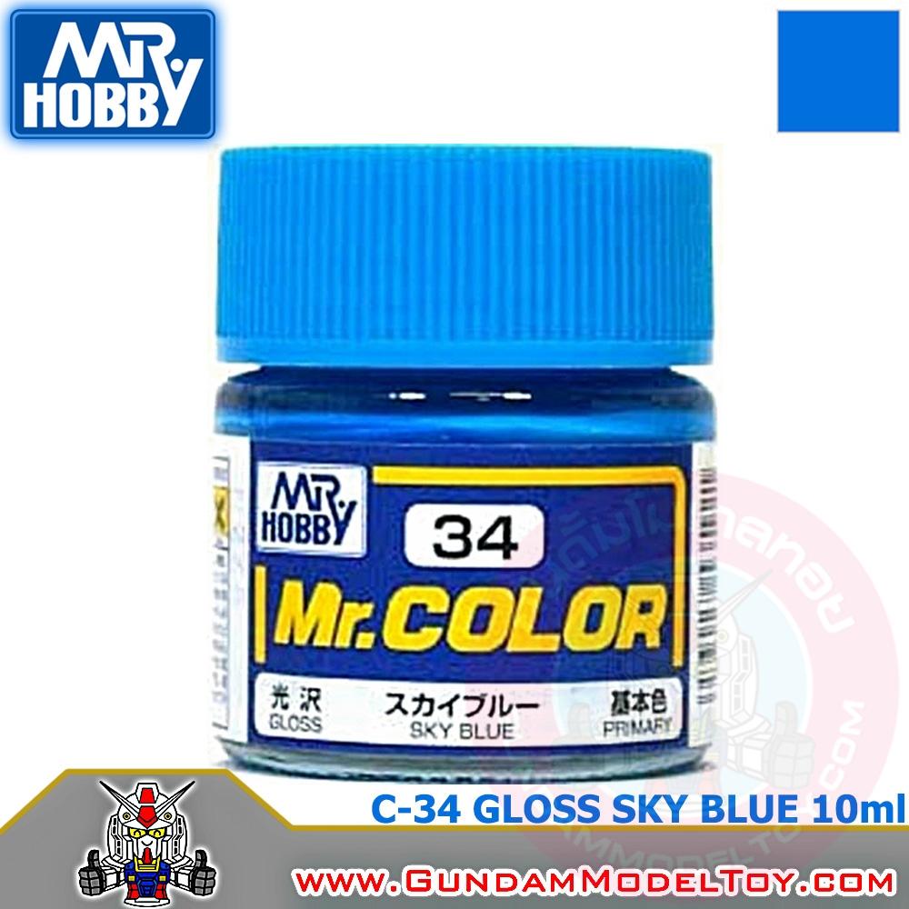 MR.COLOR C-34 GLOSS SKY BLUE สีท้องฟ้าเงา