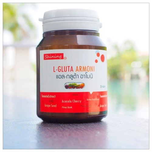 Shining L-gluta Armoni แอล-กลูต้า อาโมนิ วิตามินเร่งขาว