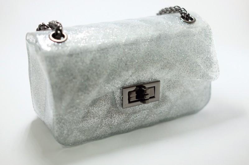 กระเป๋าสะพายแฟชั่น กระเป๋าสะพายข้างผู้หญิง Mini Toy Classic [สีเงิน]