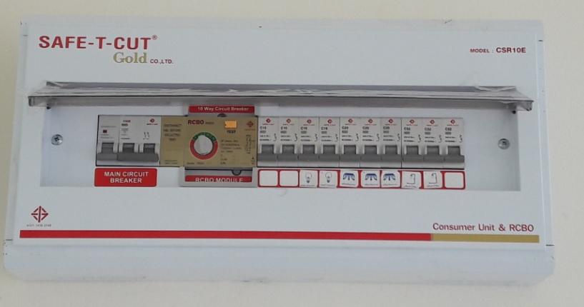 ตู้กันดู Safe-t-cut 10ช่อง 63A
