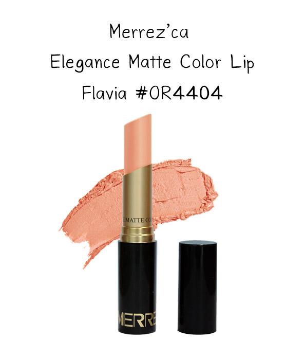 Merrez'Ca Elegance Matte Color Lip #OR4404 Flavia