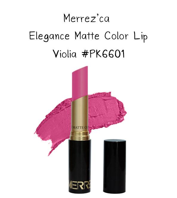 Merrez'Ca Elegance Matte Color Lip #PK6601 Violia