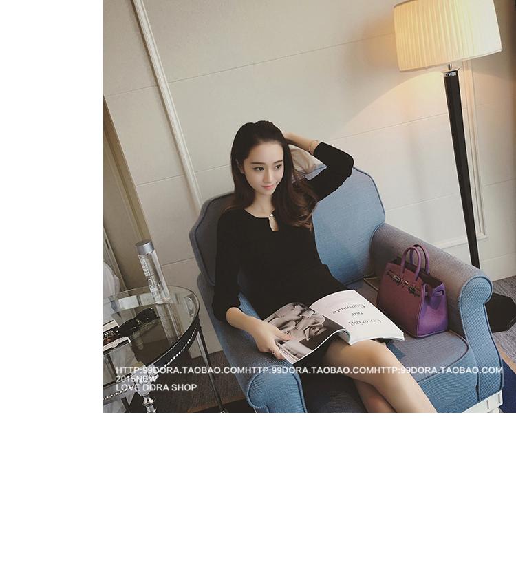 ชุดเดรสแฟชั่นเกาหลีสีดำรัดรูปเซ็กซี่ราคาถูก