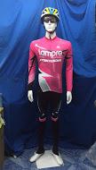 ชุดปั่นจักรยานแขนยาว LAMPRE MERIDA สีชมพู เป้าเจล (แอดไลน์ @pinpinbike ใส่ @ ข้างหน้าด้วยนะคะ)