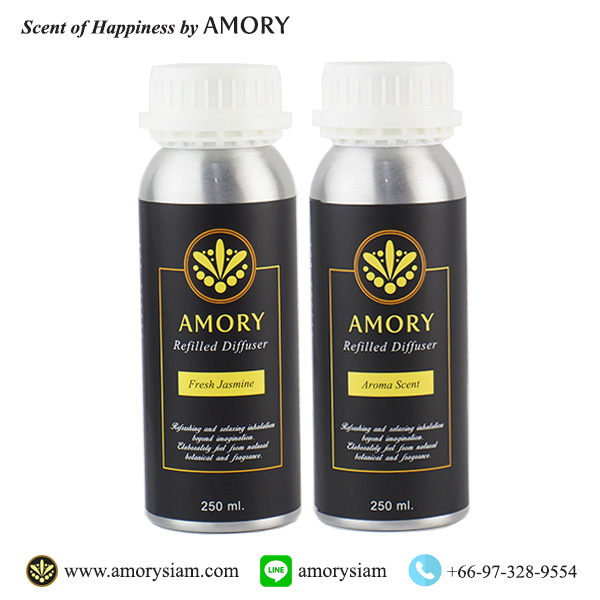 โปรโมชั่น 2 ขวด ขนาด 250 ml. รีฟิลน้ำหอมอโรม่าปรับอากาศ Aroma Refilled Diffuser