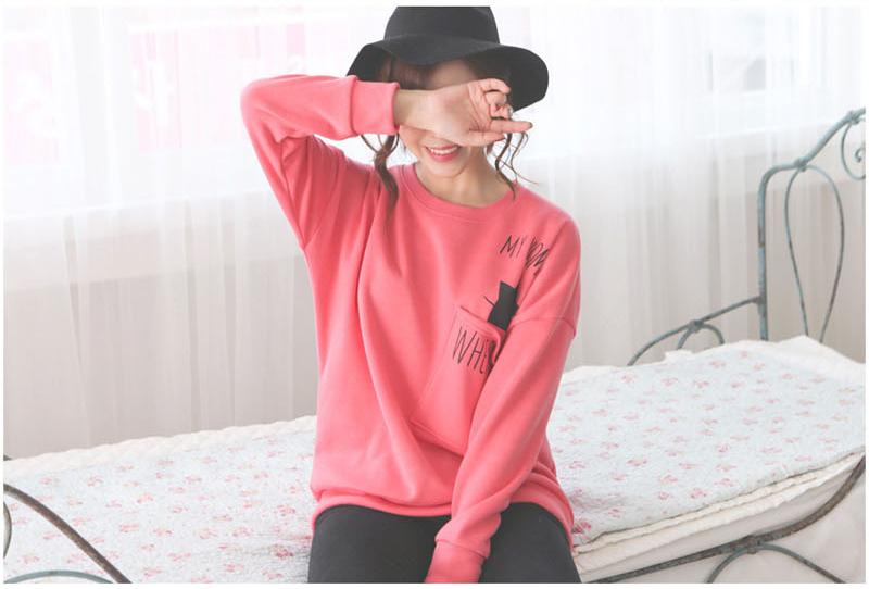เสื้อกันหนาวแฟชั่นเกาหลีสีชมพูน่ารักๆ