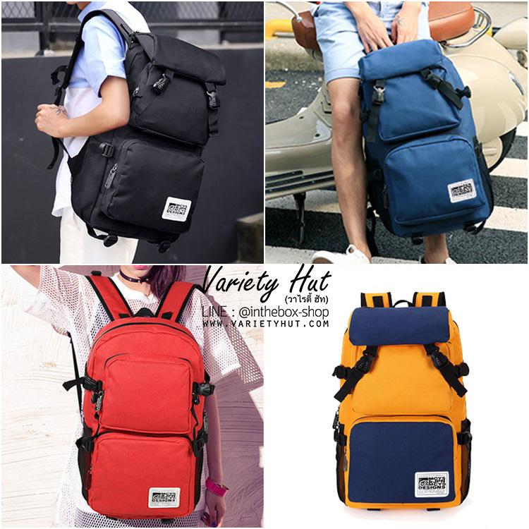 กระเป๋าเป้ใบใหญ่ Backpack กระเป๋าเป้เดินทางใช้ได้ทั้งชาย-หญิง
