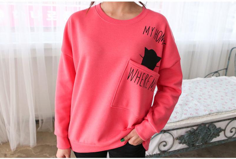 เสื้อกันหนาวแฟชั่นเกาหลีสีชมพู