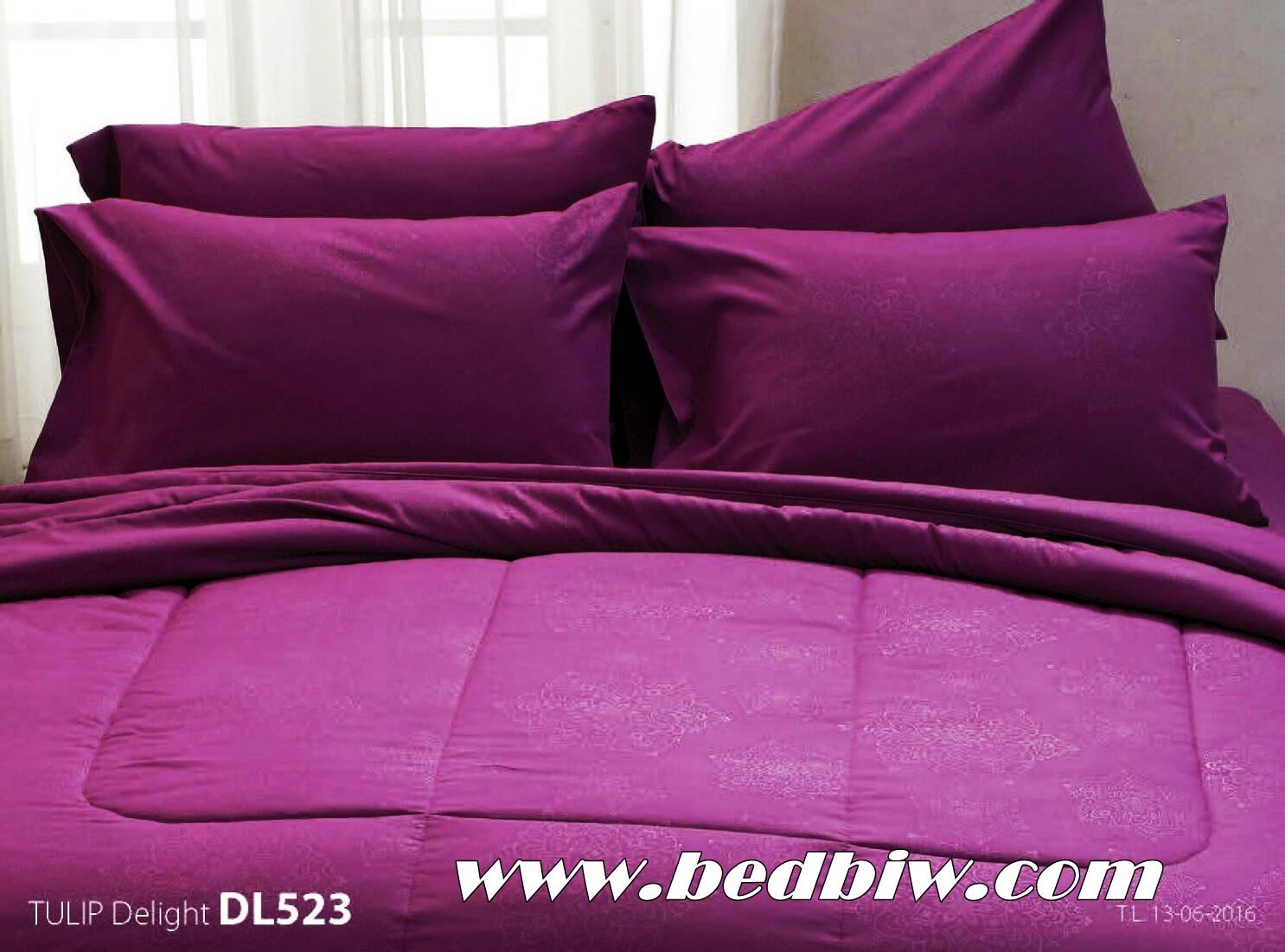ชุดเครื่องนอน ผ้าปูที่นอน ทิวลิป-ดีไลท์ Tulip Delight สีพื้น พิมพ์ลาย รหัส DL523