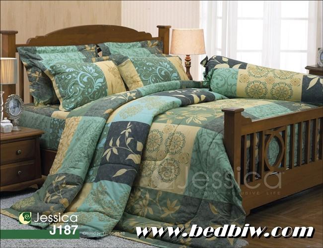 ชุดเครื่องนอน ชุดผ้าปูที่นอนเจสสิก้า ลายดอกไม้ คลาสสิค โทนสีโอรส รุ่น J187