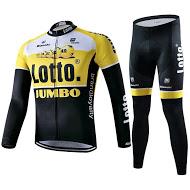 ชุดปั่นจักรยานแขนยาว BIANCHI LOTTO สีเหลือง เป้าเจล (แอดไลน์ @pinpinbike ใส่ @ ข้างหน้าด้วยนะคะ)