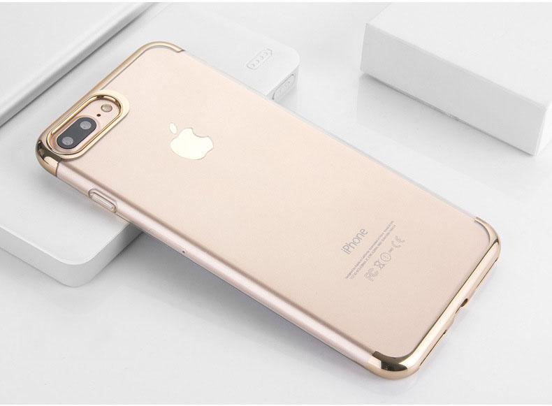 เคสยาง ใส ขอบเมทัลลิค (หัวท้าย) - เคส iPhone 6 / 6S