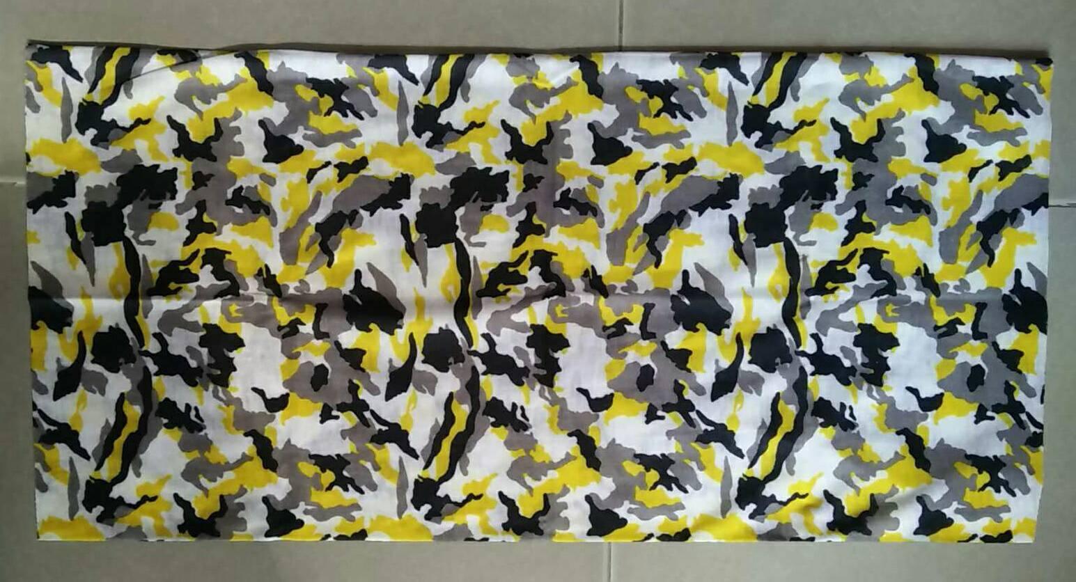 ผ้าบัฟ ลายพราง สีดำ-เหลือง