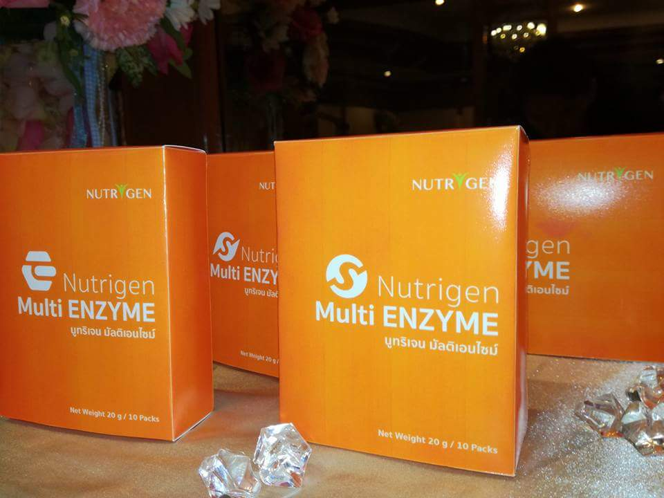 Nutrigen multi enzyme นูทริเเจน มัลติ เอนไซม์ ผลิตภัณฑ์เสริมอาหารเอนไซม์ 17 ชนิด เบาหวาน ความดัน มะเร็ง SLE