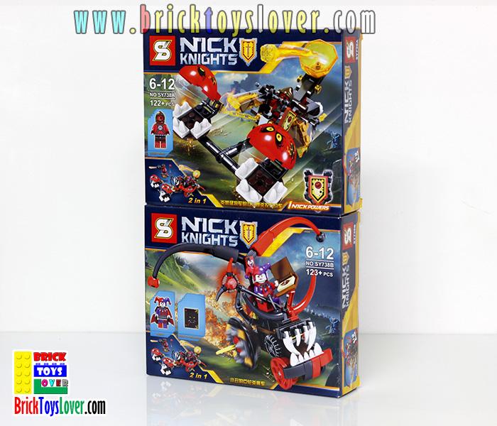SY738A-B อัศวิน Nexo Knights ชุด 2in1 Chaos Chariot เซ็ต 2 กล่อง