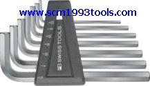 PB Swiss Tool พีบีสวิสทูล รุ่น PB-213Z-H ประแจหกเหลี่ยมแบบสั้นชุด (นิ้ว) Hex key L-wrench sets for hexagon socket screws,INCH size