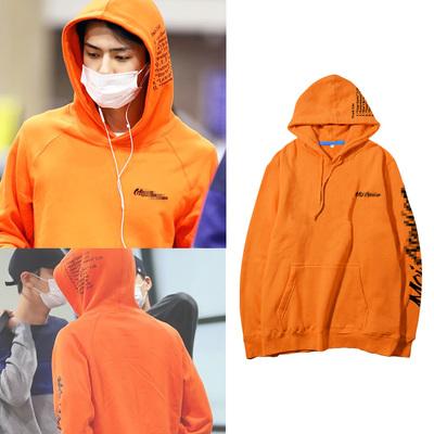 เสื้อฮู้ดแจ็คเก็ตเกาหลี EXO แต่งลายแขนเสื้อ มี4สี