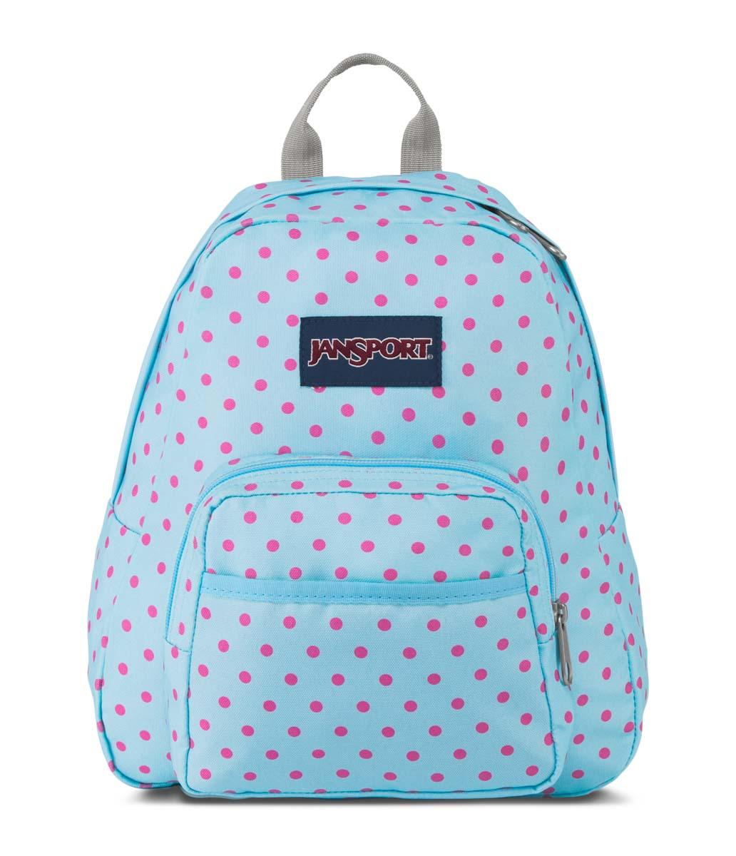 JanSport กระเป๋าเป้ รุ่น Half Pint - Blue Topaz/Lipstick Kiss Dot-O-Rama