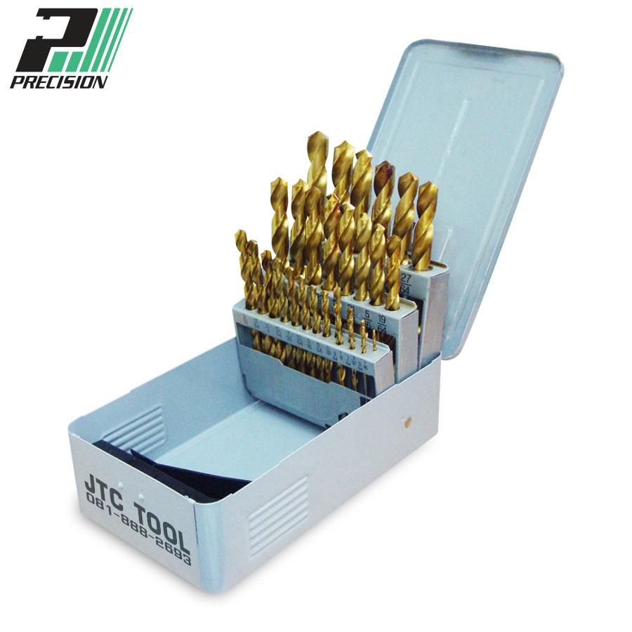 ชุดดอกสว่านแบบไฮสปีด / Drill set HSS, TIN Coating (92900) Precision