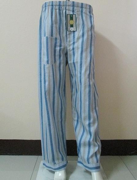 กางเกงนอนขายาว(ชาย) ผ้าคัตตอน เกรด เอ แบบลาย โทนสีเทา ไซส์ L