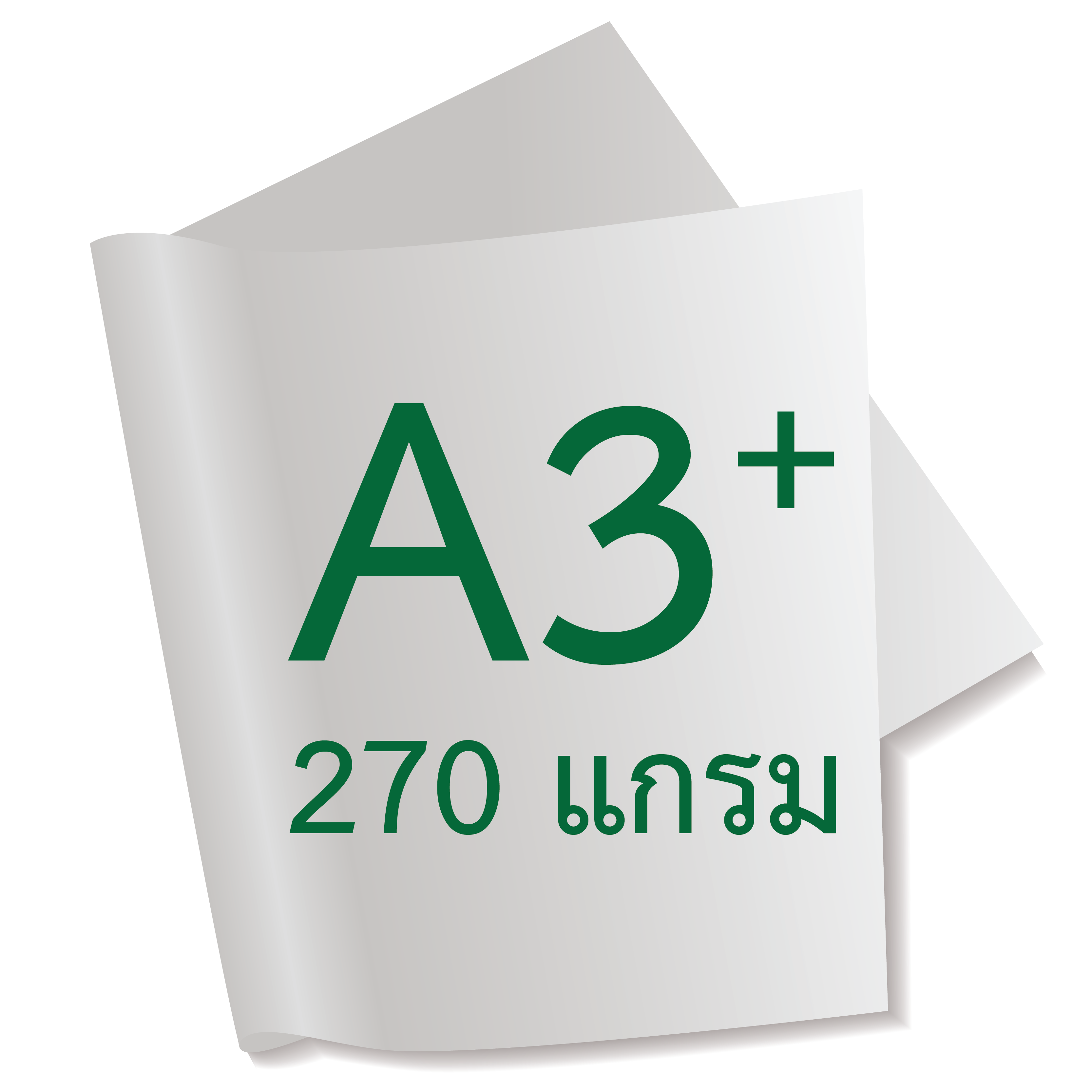 กระดาษอาร์ตการ์ดมัน 1 หน้า 270 แกรม A3+
