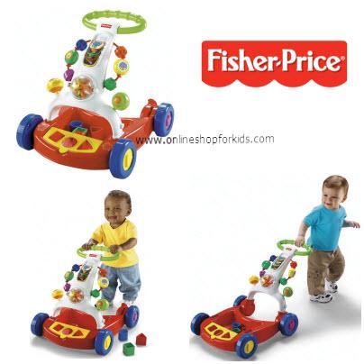 รถผลักเดิน Fisher-Price Brilliant Basics Walker-to-Wagon