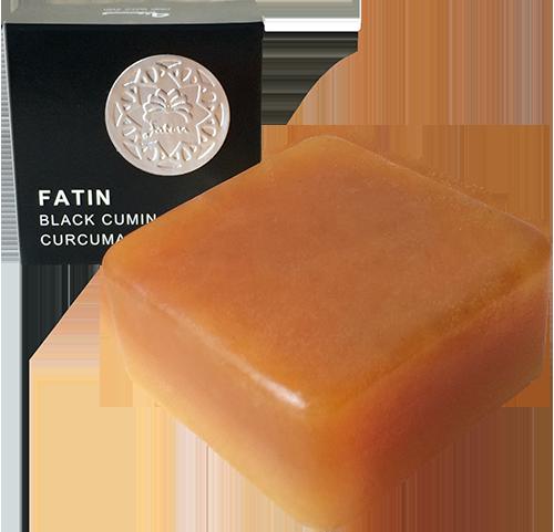 สบู่ล้างหน้าฮับบะตุสเซาดะอฺผสมน้ำผึ้งเเละขมิ้นชัน(สีส้ม) BLACK SEED OIL AND HONEY WITH TURMERIC SOAP