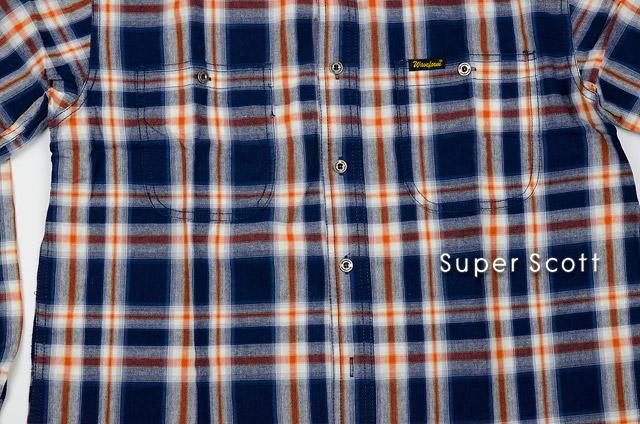 เสื้อลายสก๊อต ผู้ชาย สีน้ำเงิน ไซส์ใหญ่