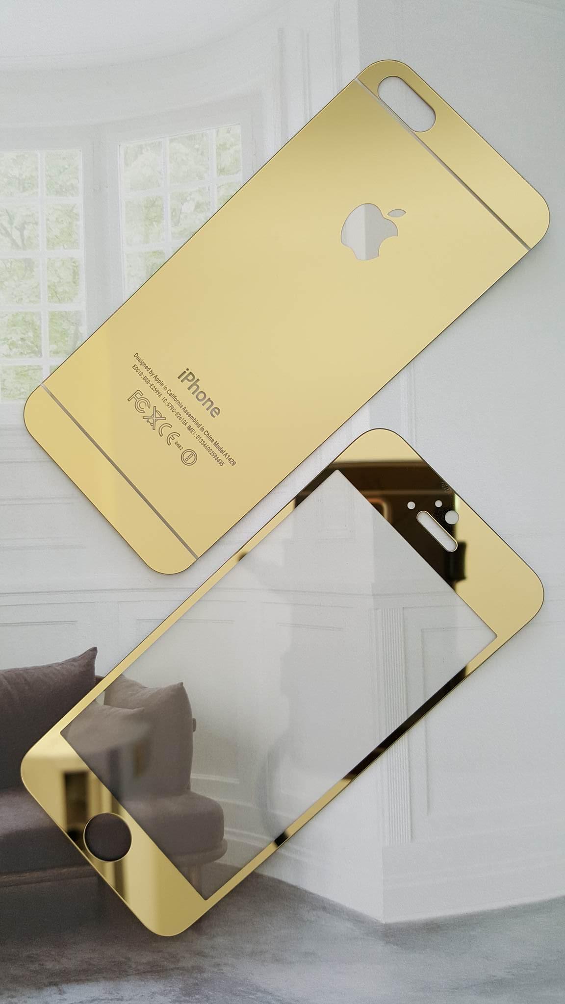 ฟิล์มกระจก iPhone5/5s/SE แบบกระจกสะท้อน