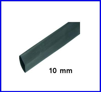 ท่อหด ท่อหุ้มสายไฟคุณภาพ 10มม.KUHS 225 TW สีดำ สีดำความยาว1เมตร